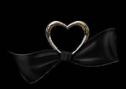 pour vous cras tube noir et blanc ruban coeur